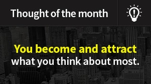 thought of the month law of attraction