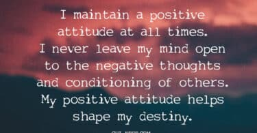 positive attitude affirmations
