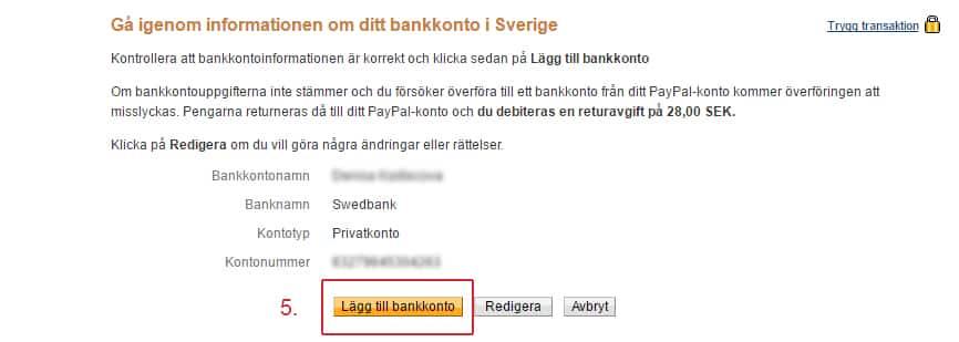 hur skriva bankkontonummer swedbank
