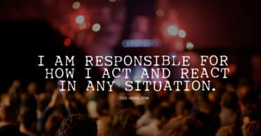 responsibility affirmations