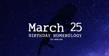 march 25 birthday numerology