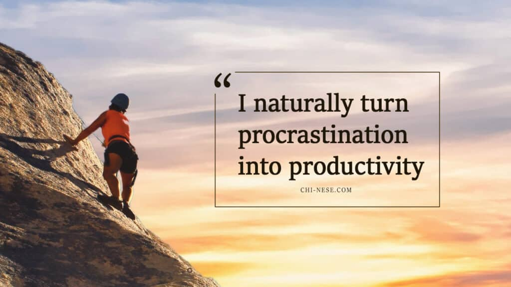procrastination affirmations