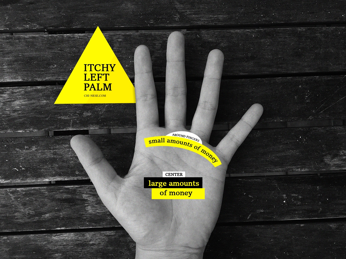 itchy left palm