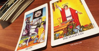 tarot death and the magician