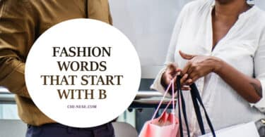 fashion words that start with b