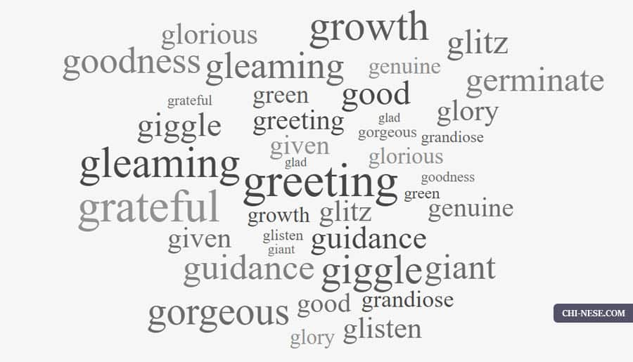 List Of Positive Words That Start With G Positive Words Starting With G