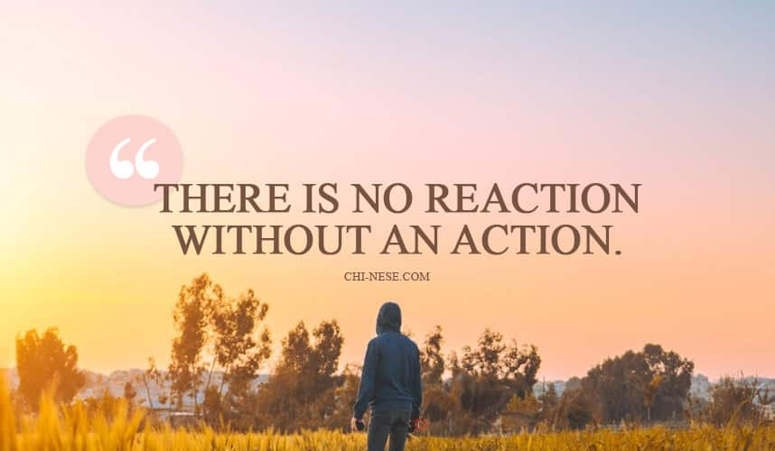 there is no reaction without an action
