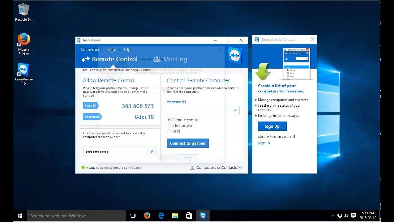 Easiest Remote PC Control With Portable TeamViewer - Law of