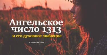 Ангельское число 1313
