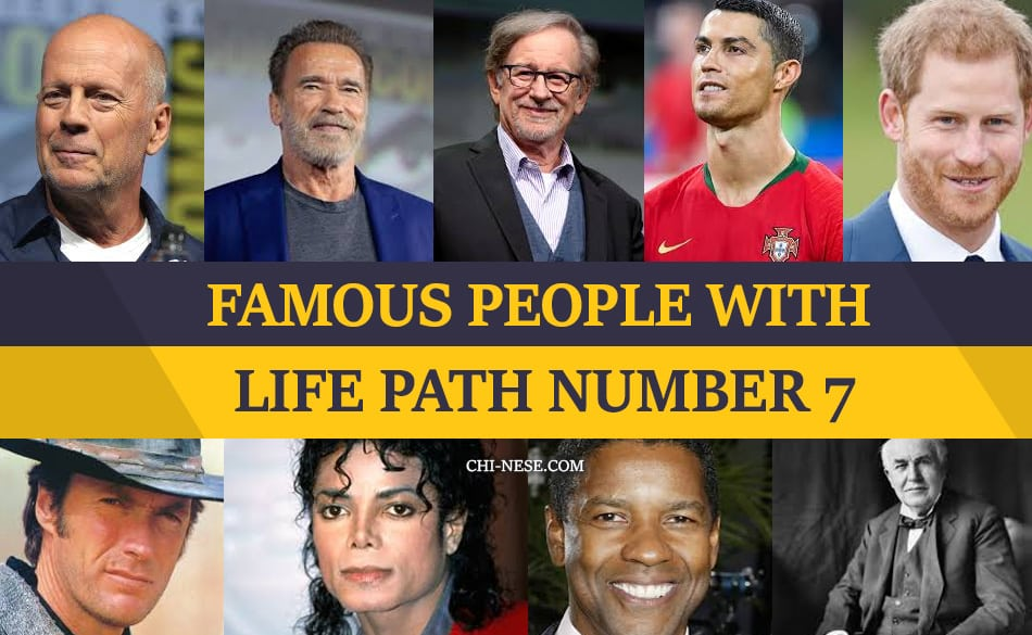 life path number 7 famous people