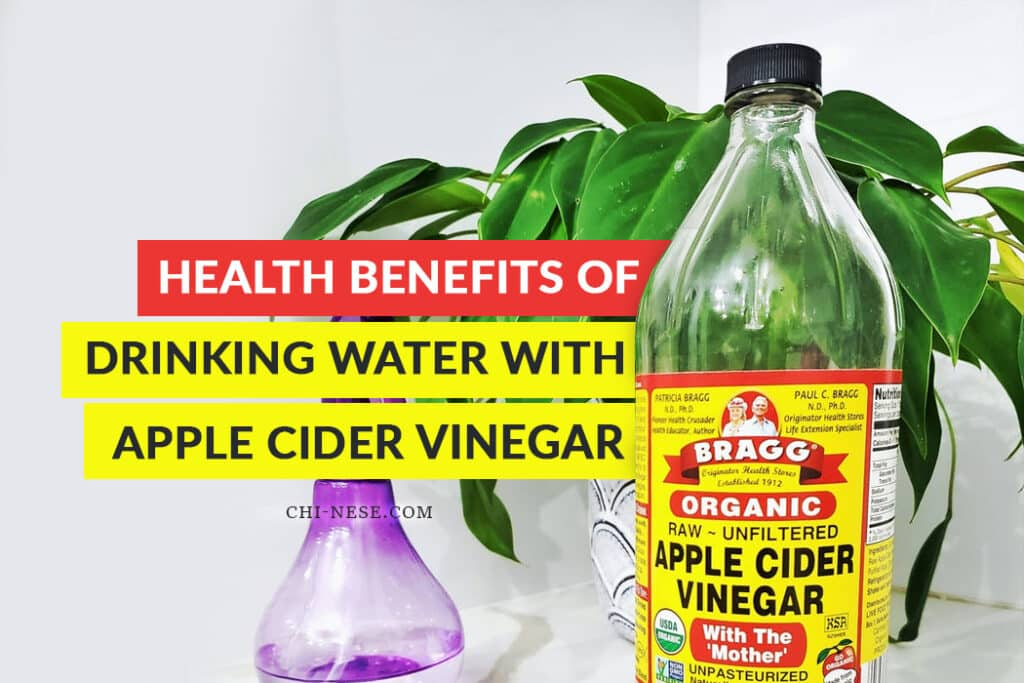 health benefits of drinking water with apple cider vinegar