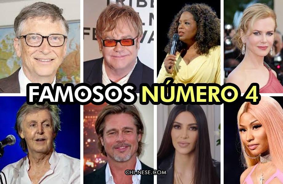 famosos número 4