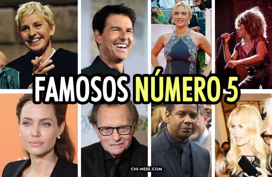 famosos numero 5