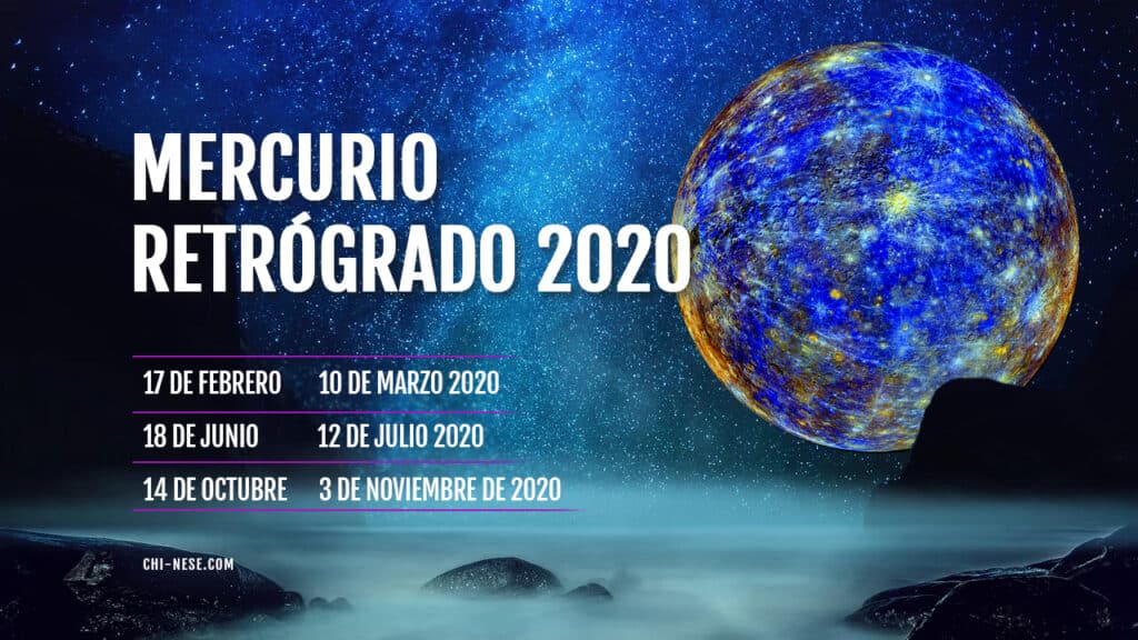 Mercurio retrógrado 2020 calendario