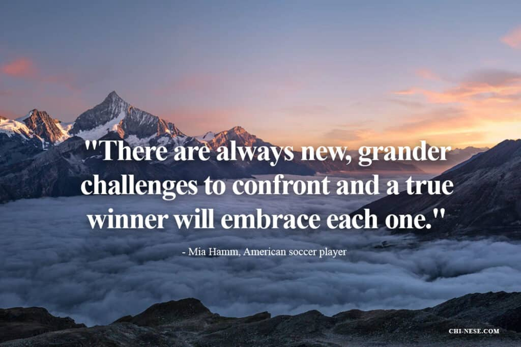 There are always new, grander challenges to confront and a true winner will embrace each one