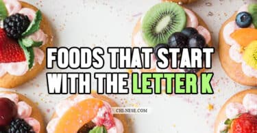 foods that start with the letter k
